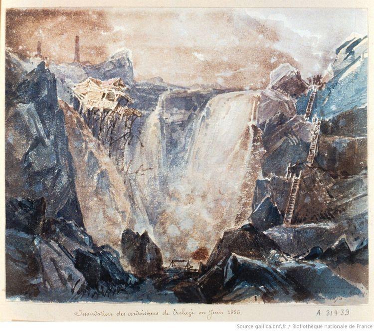 Inondation des ardoisières de Trélazé en juin 1856 — Wiki-Anjou