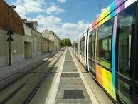 Photographie du tramway d'Angers.