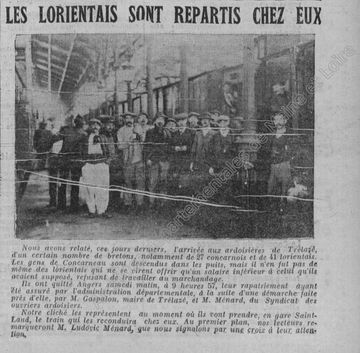 Article du Petit Courrier, 12 novembre 1911.